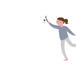 Icon Frau mit Pinsel