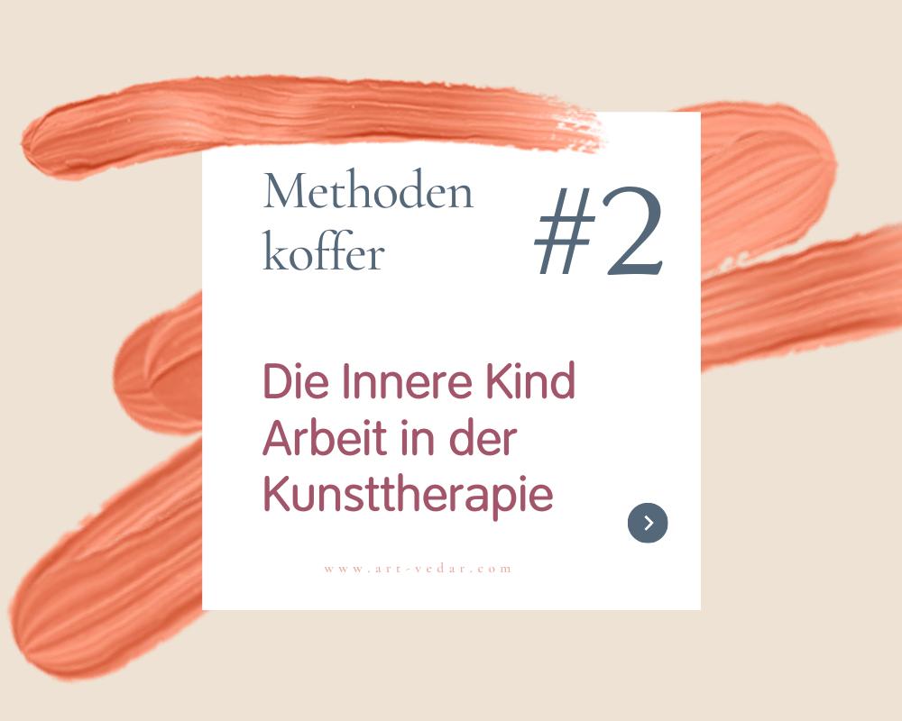Ein Streifen Farbe in Orange mit Überschriftn zum Blogartikel das Inner Kind
